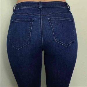 Ann Taylor Dark Denim Jeans Womens Size 4P Bootcut
